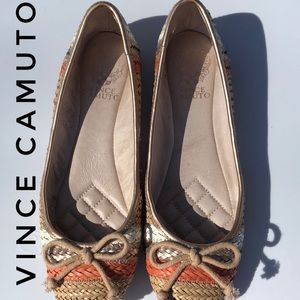 Vince Camuto straw flats.